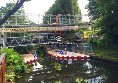 Boat Deflection Pontoons For Hire on Canals