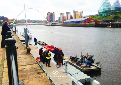 Floating Pontoon For An ITV TV Programme Vera