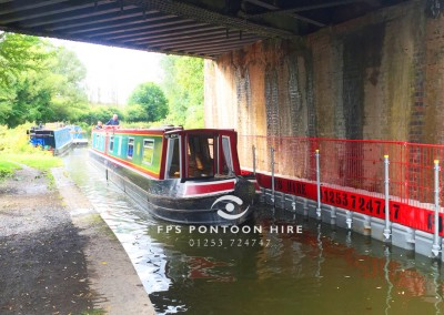 Floating Access Pontoon For Canal Bridge Repairs