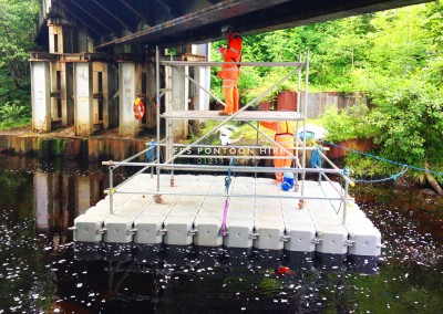 Floating Bridge Inspection Access Pontoon With Handrails
