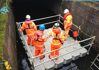 Floating Culvert Inspection Pontoon Hire