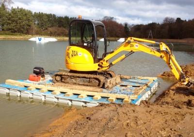 Floating Excavator Pontoon Platform Hire