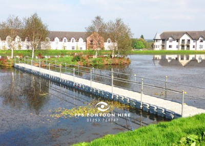 Floating Modular Pontoon Walkway Hire for Events
