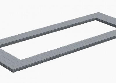 19.5m x 7m Floating Platform Perimeter