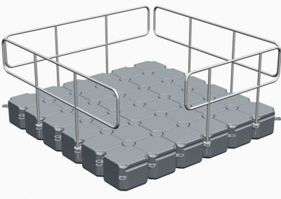 3m x 3m Floating Pontoon With Handrails