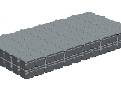 6m x 3m Double Stacked Floating Pontoon Platform