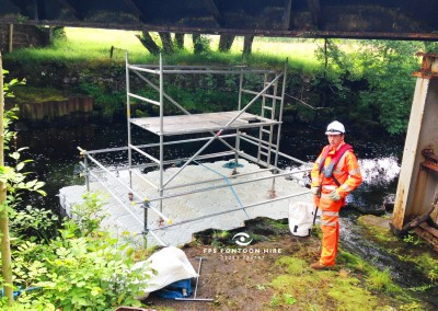 Bridge Inspection Access Pontoon With Handrails