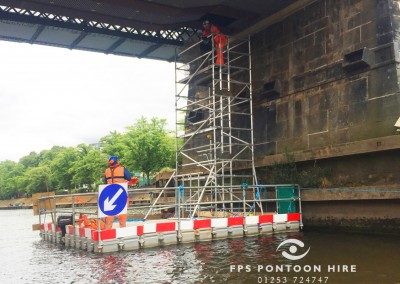 Floating Bridge Inspection Pontoons For Hire With Handrails