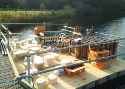 Floating Firework Display Platforms For Hire With Handrails
