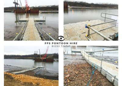 Floating Pontoon 30m Installation With Handrails New Wear Bridge Sunderland
