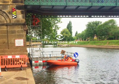 Floating Pontoon And Work Safety Boat Hire