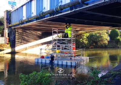 Floating Bridge Inspection Pontoon With Handrails