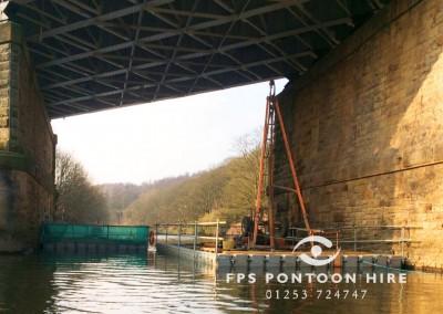 Floating Geotechnical Ground Investigation Pontoon Platforms
