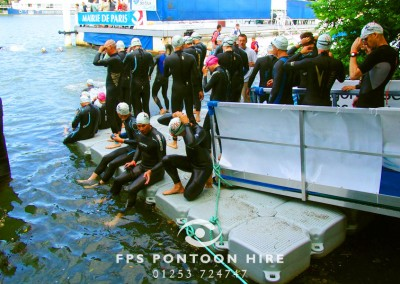 Triathlon Event Floating Platform Pontoon Hire