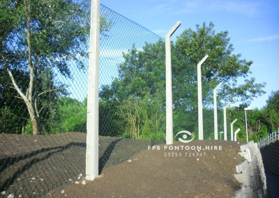 Secure Wire Fencing by Floating Pontoon Solutions