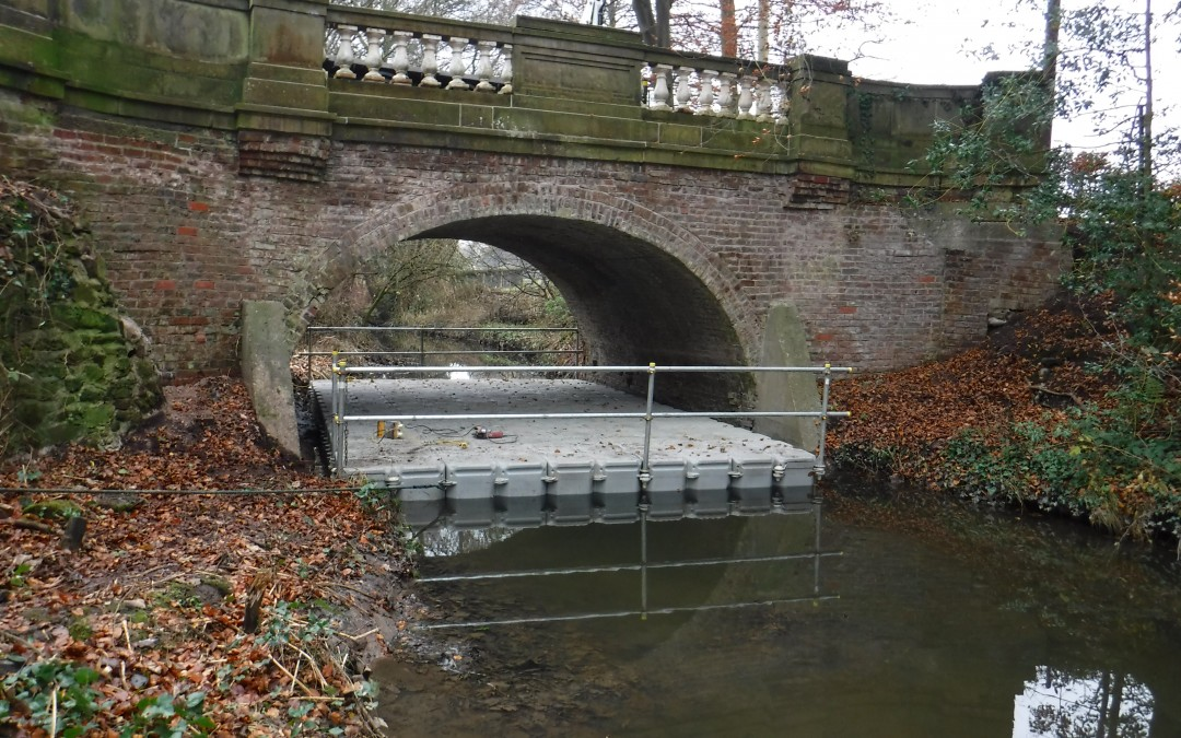 Historic bridge repairs in leafy Cheshire