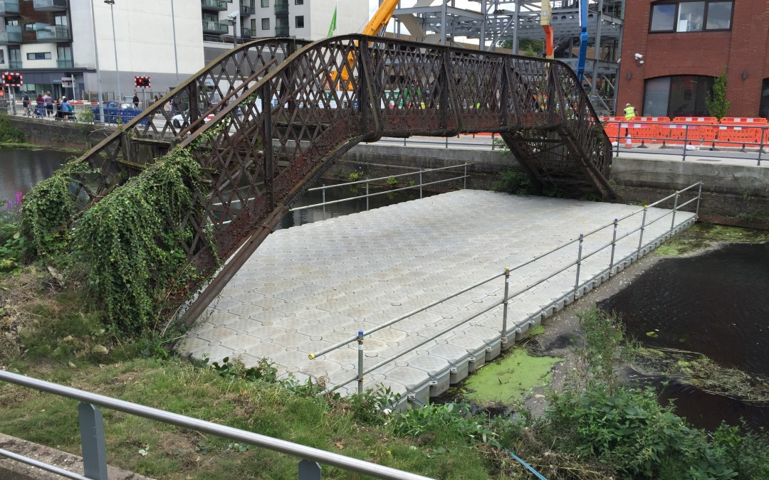 Going, going, GONE – goodbye to ramshackle old bridge
