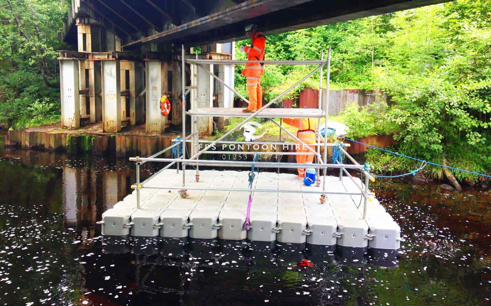 Floating Bridge Inspection Access Pontoons