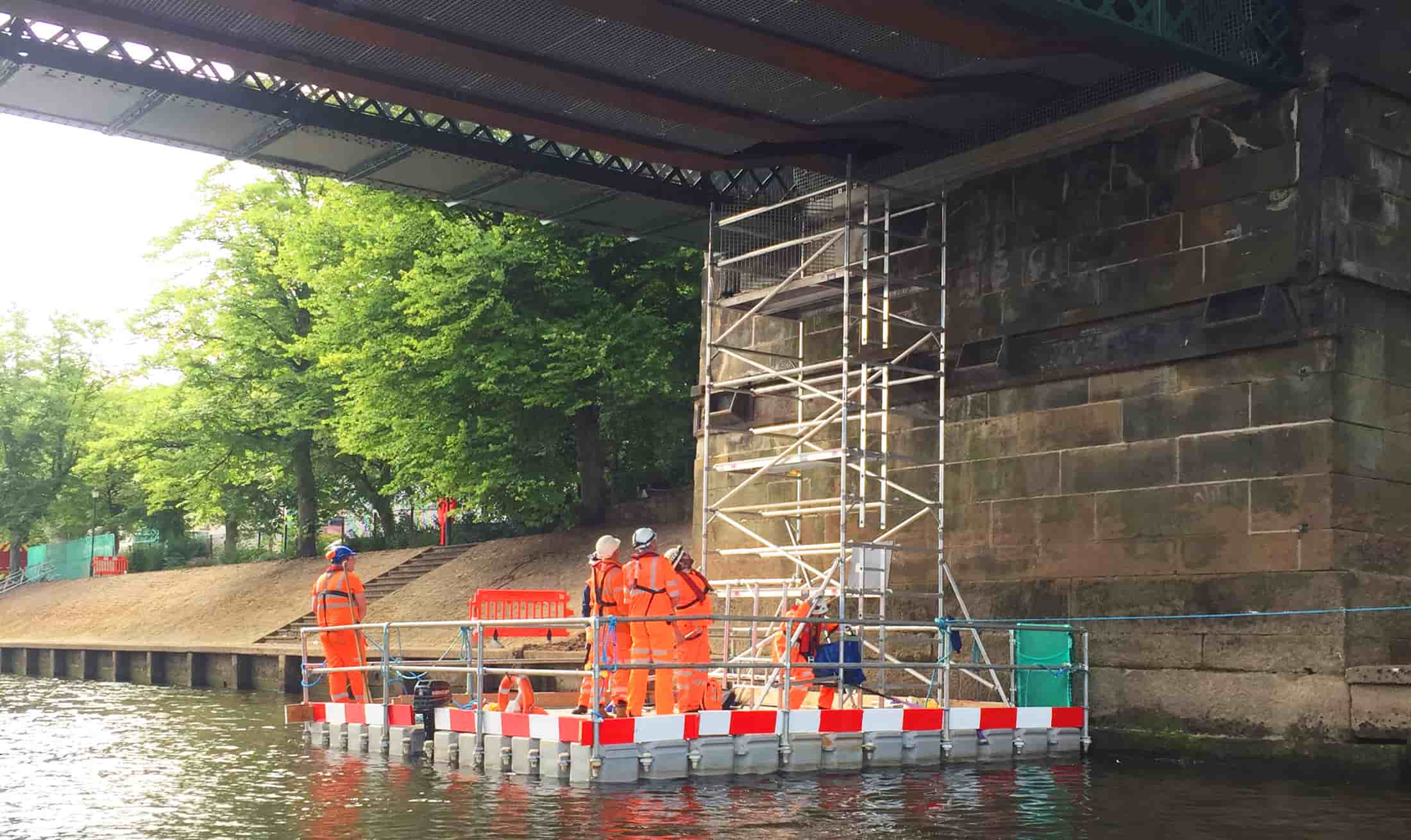Floating Bridge Inspection Platforms Scaffold Tower