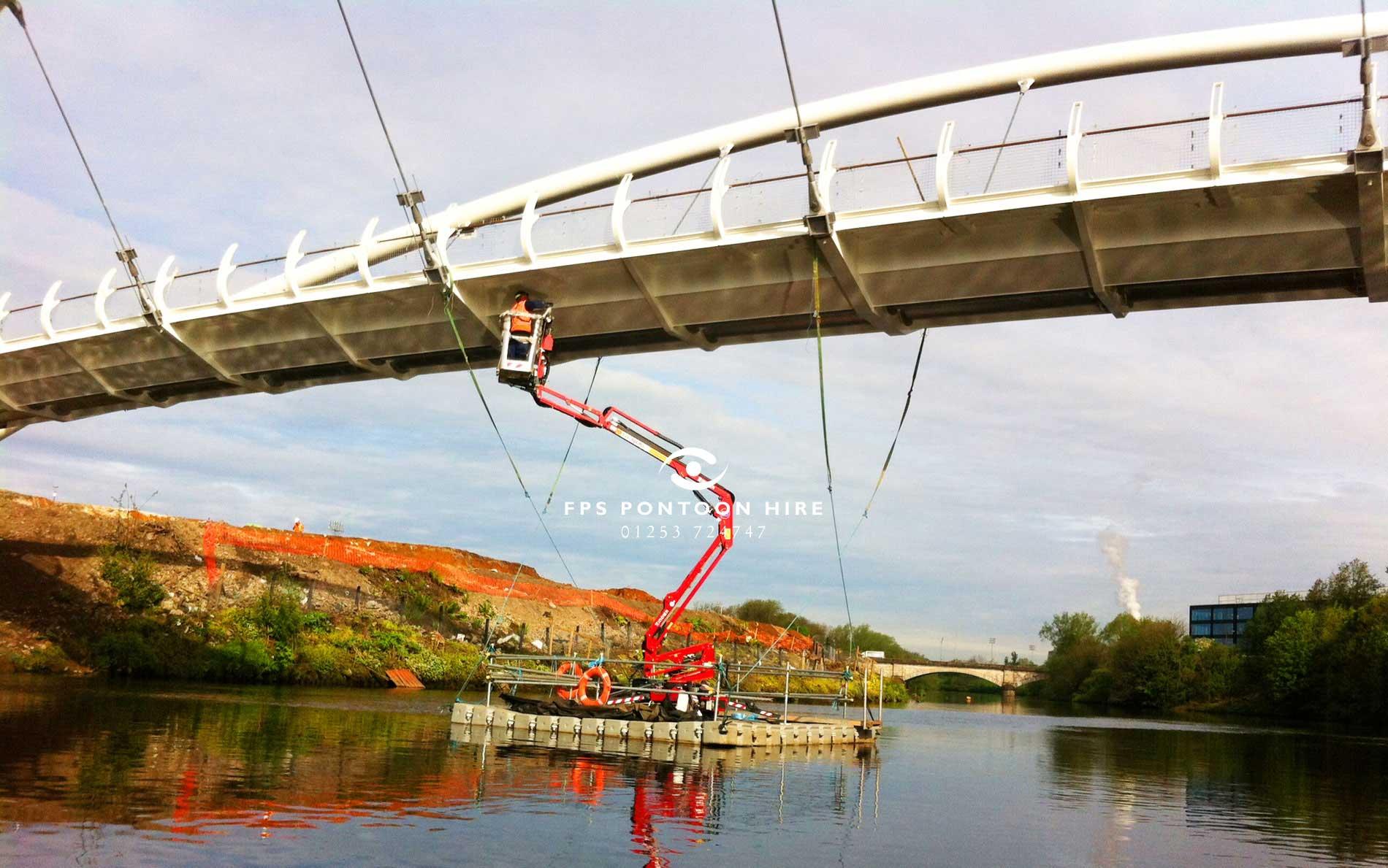 Floating MEWP Access Pontoon Platform Hire