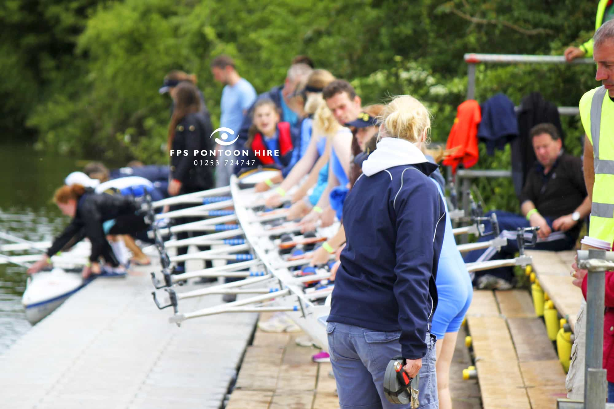 Queens Coronation Windsor Castle 60th Anniversary Regatta Boating by Floating Pontoon Solutions