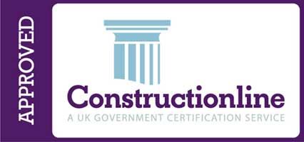 We're Accredited by Construction Line UK Register of Pre-Qualified Construction Services