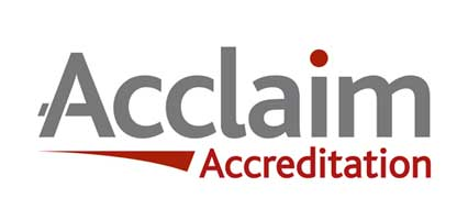 We're Acclaim Accredited