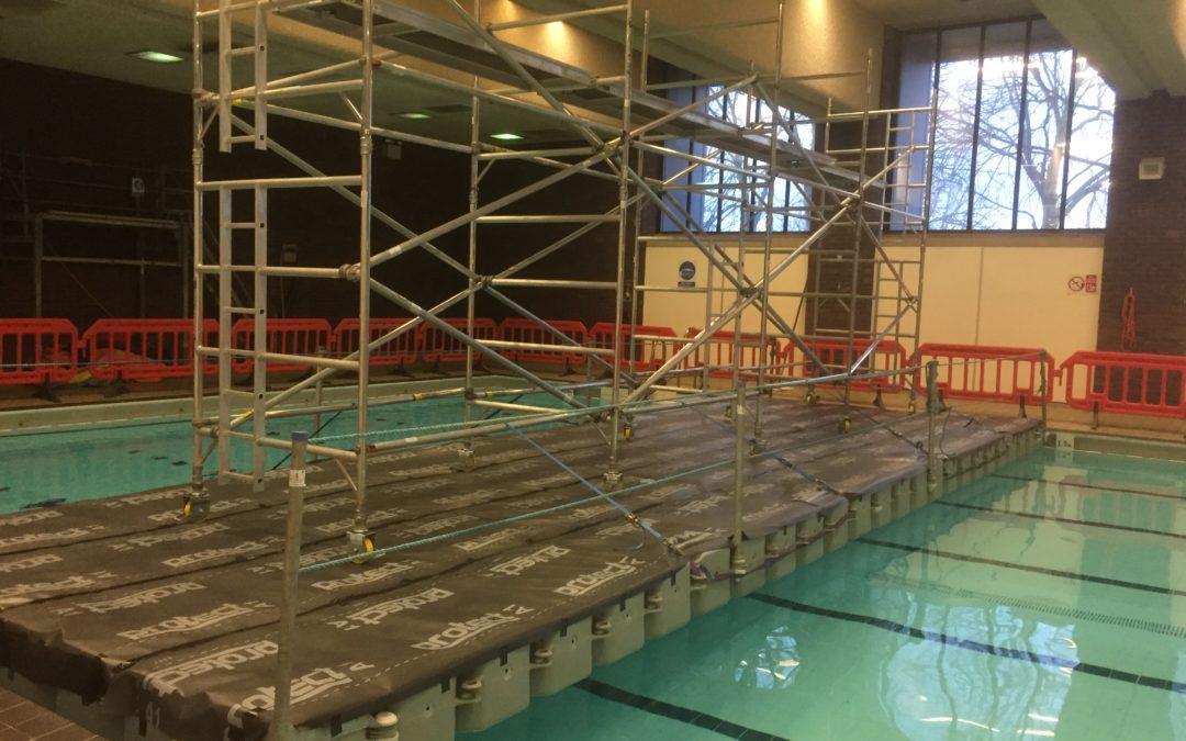Swimming pool pontoon work's