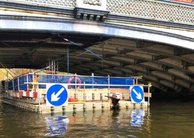 Access Pontoons For Bridge Pressure Washing