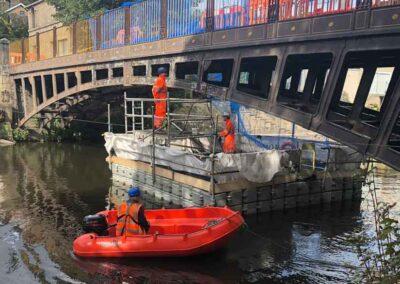 Bridge Maintenance Floating Platform Scaffold Tower For Bridge Painting Works