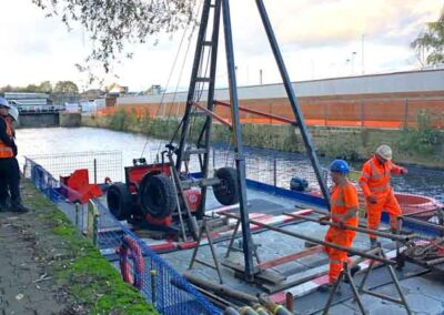Cable Percussion Drilling Floating Pontoons
