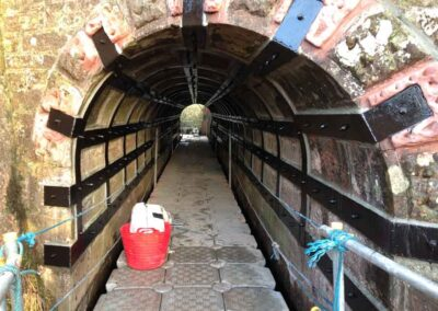 Floating Access For Culvert Banding Works