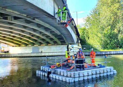 Floating MEWP Hire For Bridge Maintenance