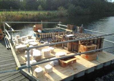 Floating Pontoon Firework Event Platforms