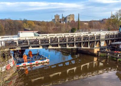 Floating Pontoons Access For Canal Swing-Bridge Maintenance