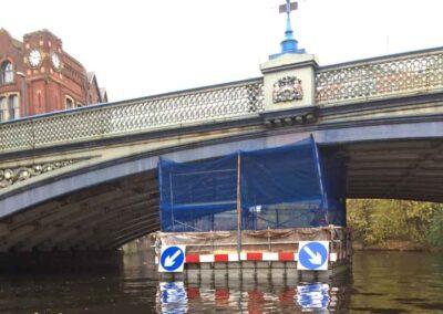 Floating Pontoons For Bridge Jetwashing Cleaning Maintenance