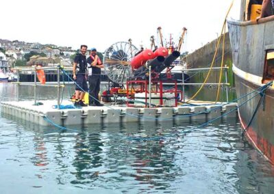 Floating Pontoons For National Geographic Harbour Filming