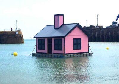 Folkestone Art Display House on a floating pontoon