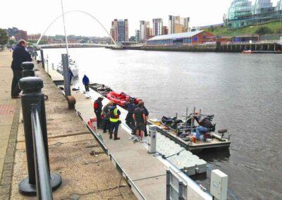 ITV VERA TV Programme Filming Floating Pontoon Platform