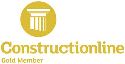 We're an accredited Construction Line UK Gold Member,  Registered Pre-Qualified Construction Services
