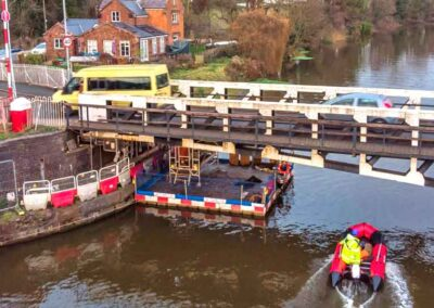 Pontoons For Canal Swing-Bridge Painting