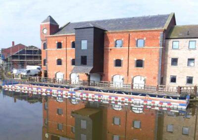 Wigan Pier Canal Construction Access Pontoon